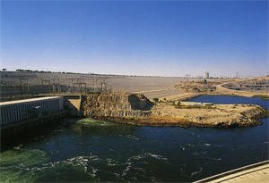 The Assuan Dam Keeps the Nile River in Check